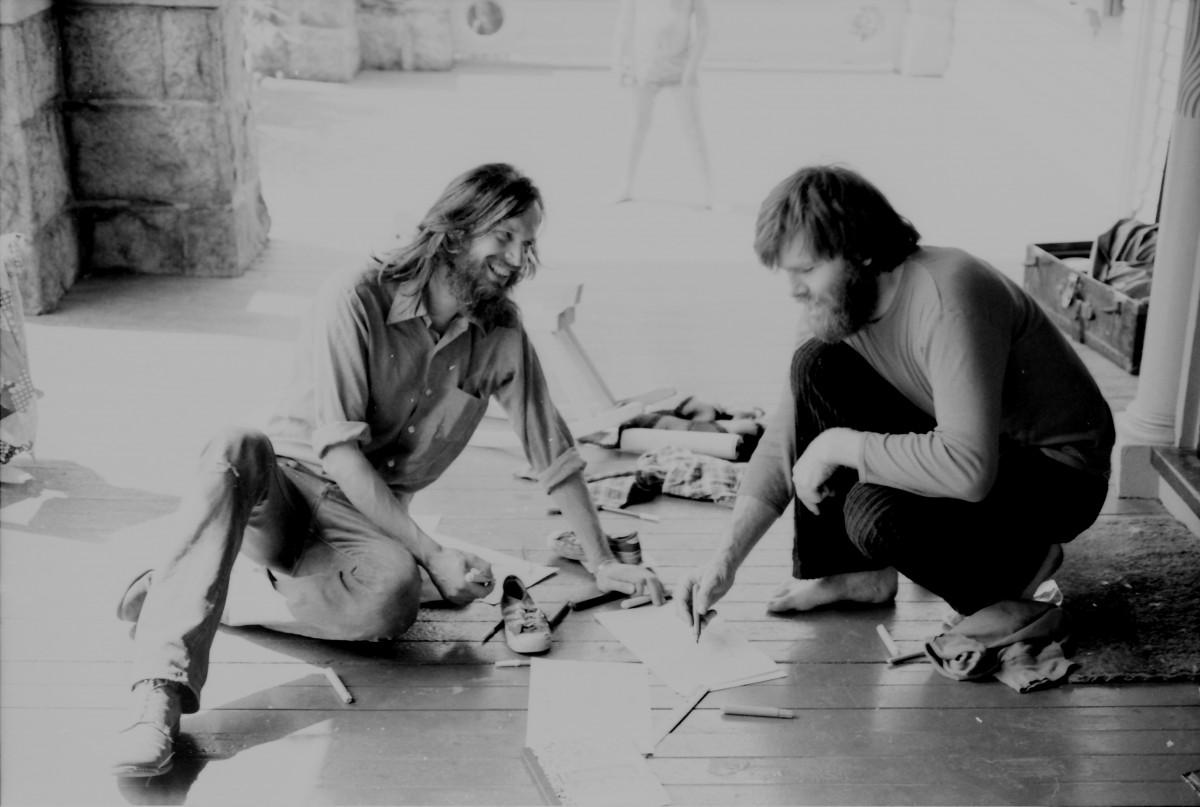 David & Ole sketching