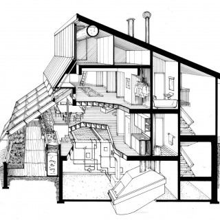 section of mechanical and dwelling space